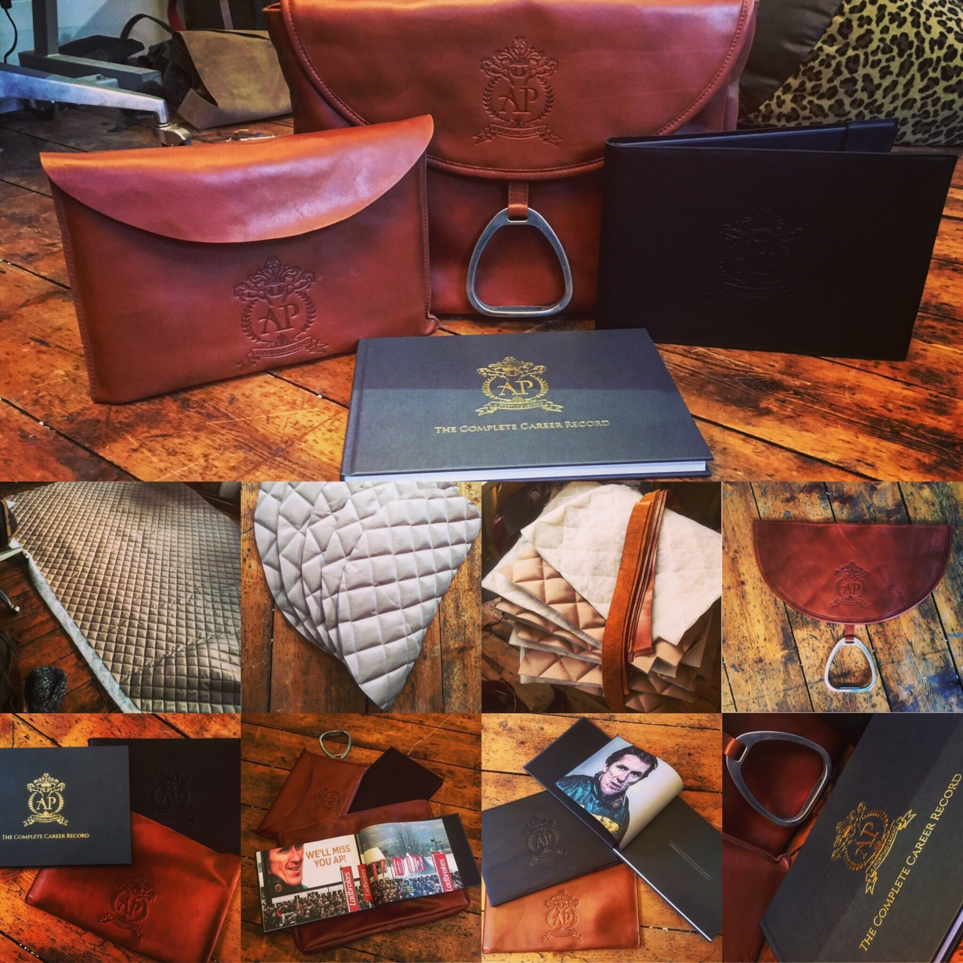 Bespoke Saddle Bags for AP McCoy Book Launch