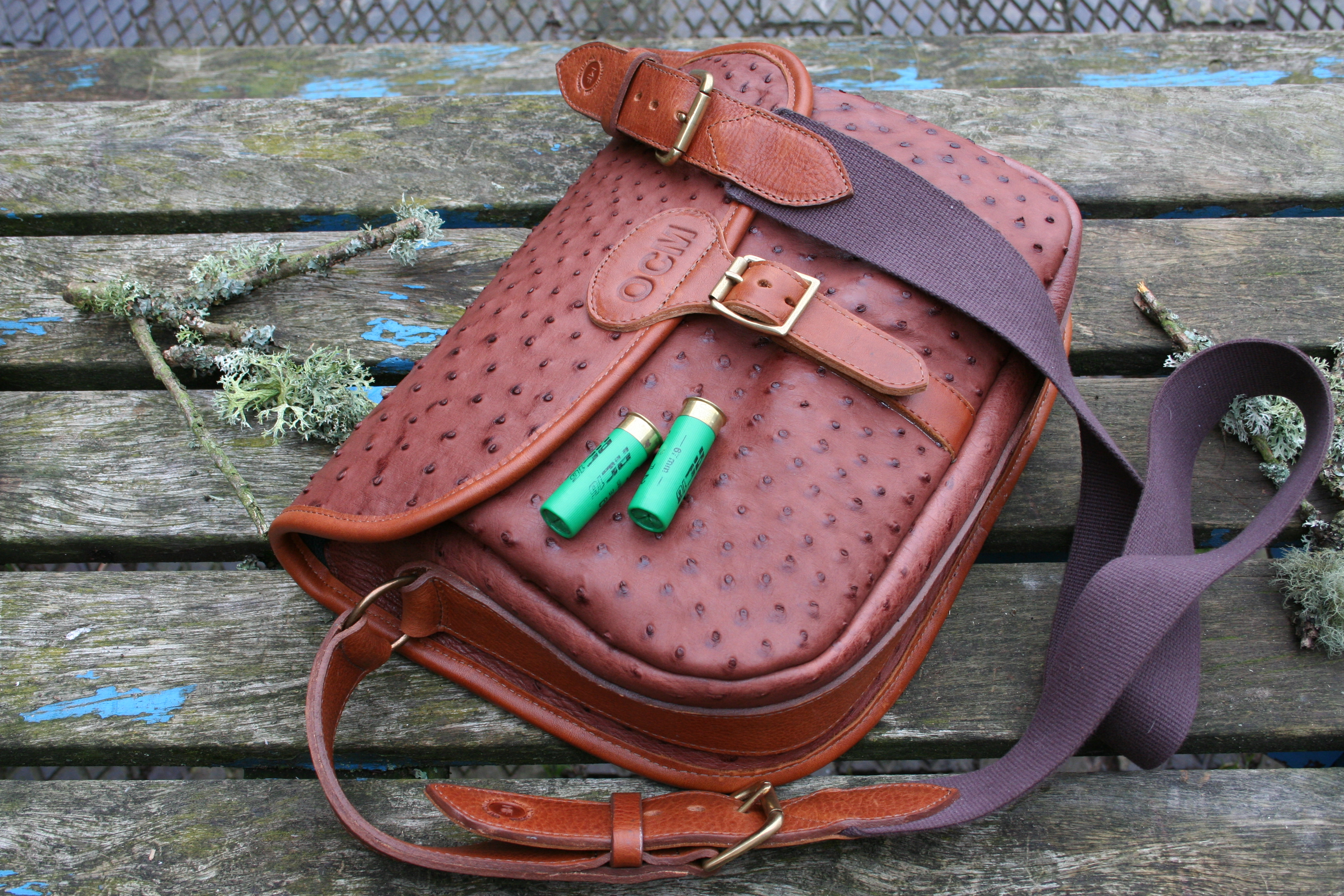 Delbury Ostrich Cartridge Bag